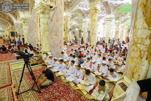 تصویر نهمین دوره مسابقات قرآن در آستان علوی