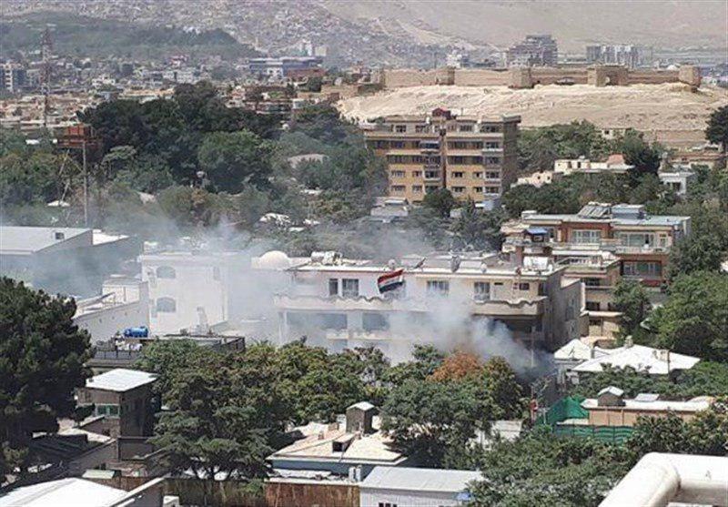 تصویر حمله داعش به سفارت عراق در کابل