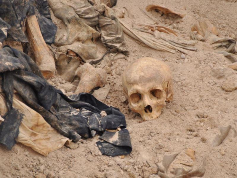 تصویر کشف یک گور جمعی در «خانقین» عراق