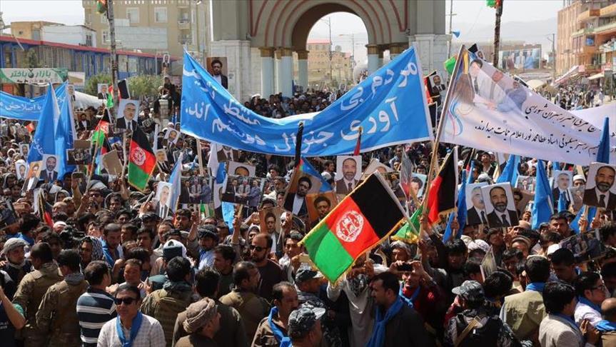 تصویر تظاهرات شیعیان هرات در اعتراض به ناامنی در افغانستان