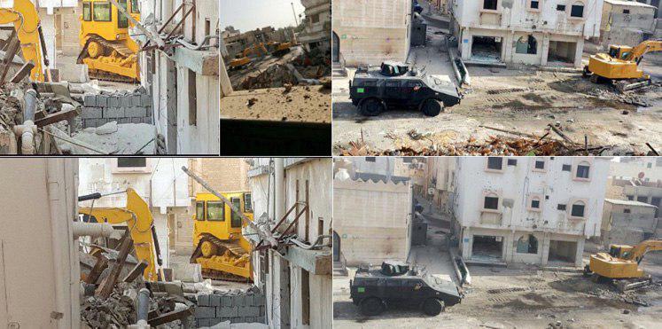 تصویر بيانيه مرکز آدم در رابطه با کشتار شهروندان سعودی به دست نيروهای امنيتی در شهر شيعه نشين العواميه