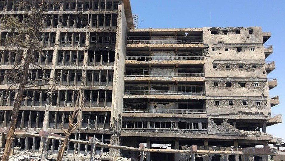 تصویر بیمارستانی که کارگاه ساخت انواع سلاحها و مهمات مرگبار داعش بود
