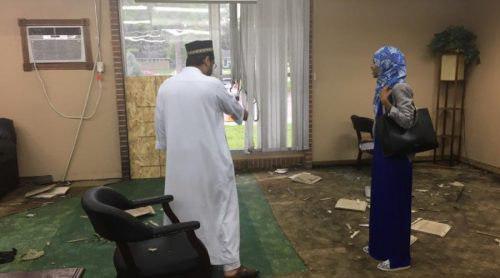 تصویر حمله به مسجد مینه سوتا با بمب