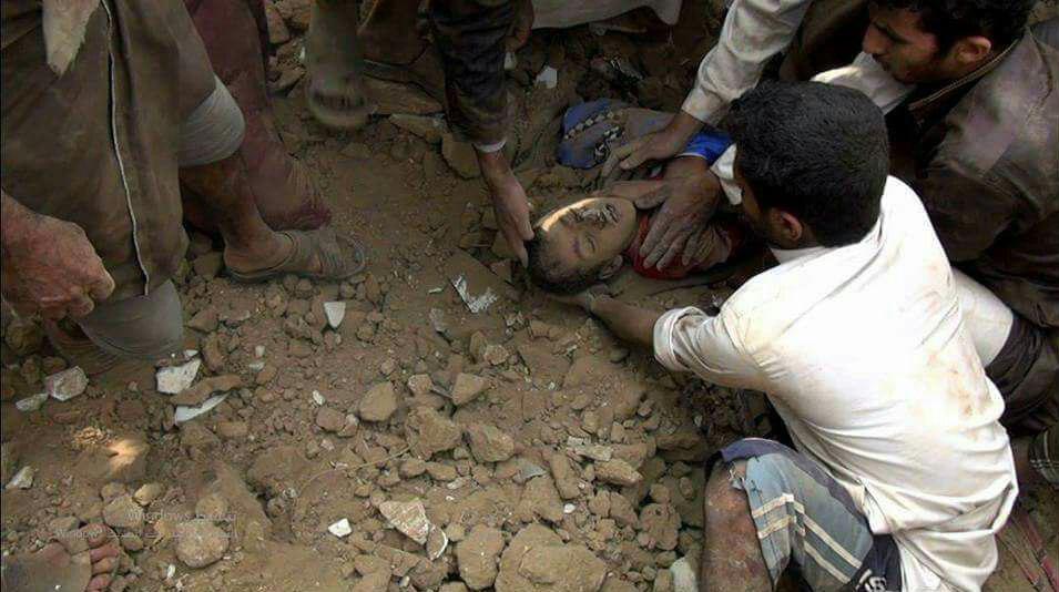 تصویر واکنش سازمان ملل به جنایت جدید عربستان در صعده یمن