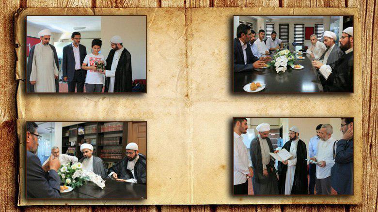 تصویر بازدید هیئتی از آستان مقدس حسینی از مؤسسات شیعی استانبول