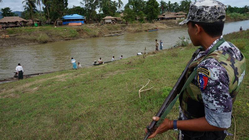 تصویر اعزام گسترده ارتشی های میانمار به راخین و نگرانی سازمان ملل