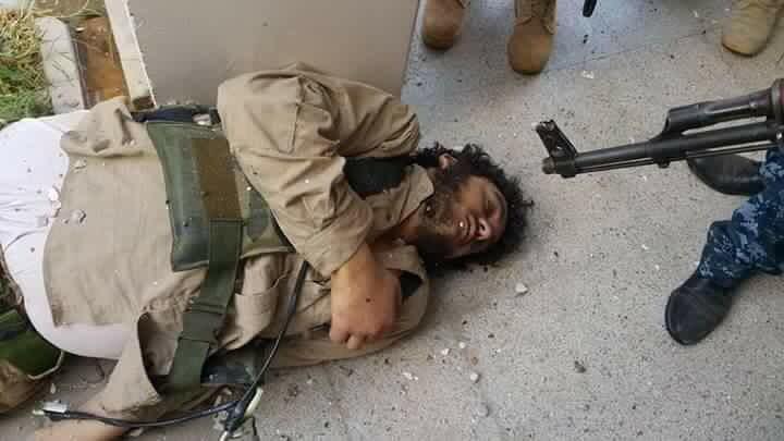 تصویر خنثی سازی یک عملیات تروریستی در تکریت