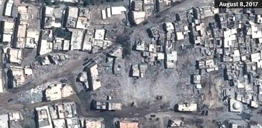 تصویر انتشار عکس های ماهواره ای از خرابی های اخیر در شهر العوامیه