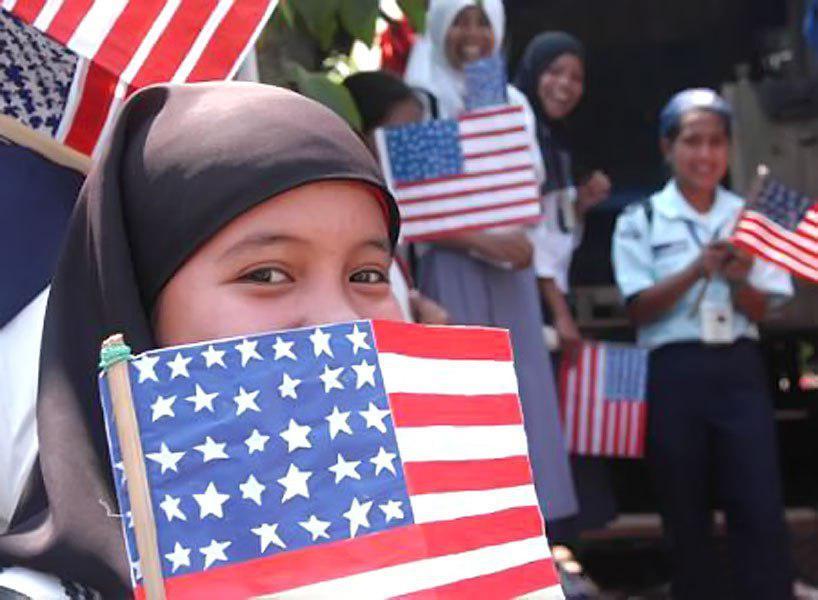 تصویر «با یک مسلمان دیدار کنید» در «سنت لوئیس» آمریکا