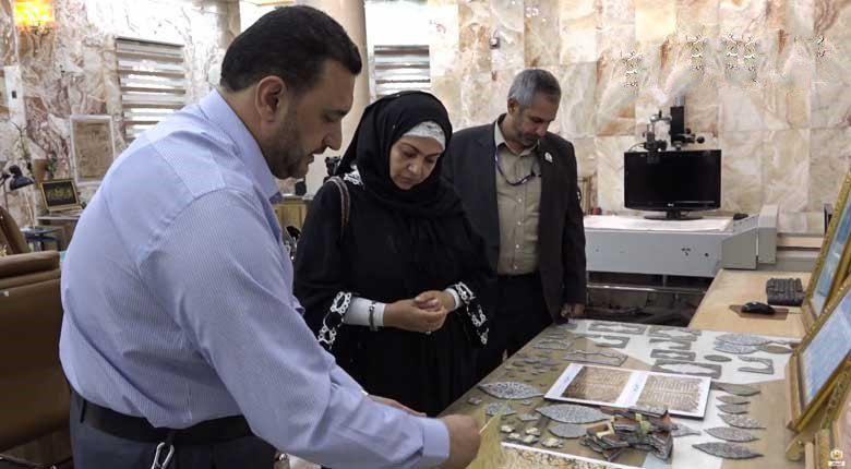 تصویر حضور مسئولان موزه مصر در حرم امام حسین علیه السلام