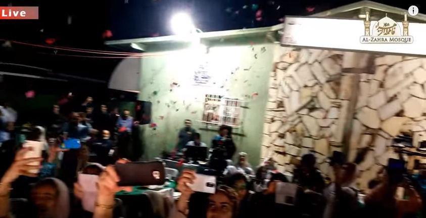 تصویر گلباران مسجد لس آنجلس در جشن غدیر