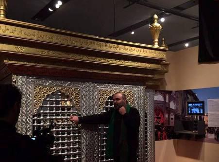 تصویر ضریح امام حسین علیه السلام در بلژیک