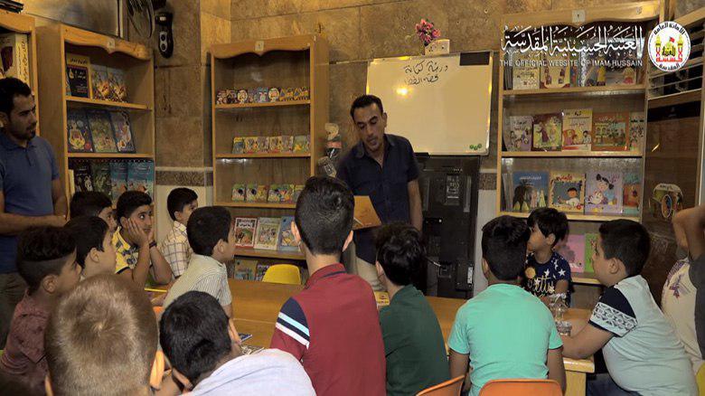 تصویر آستان مقدس حسینی به ۱۰۰۰ کودک آموزش نویسندگی میدهد