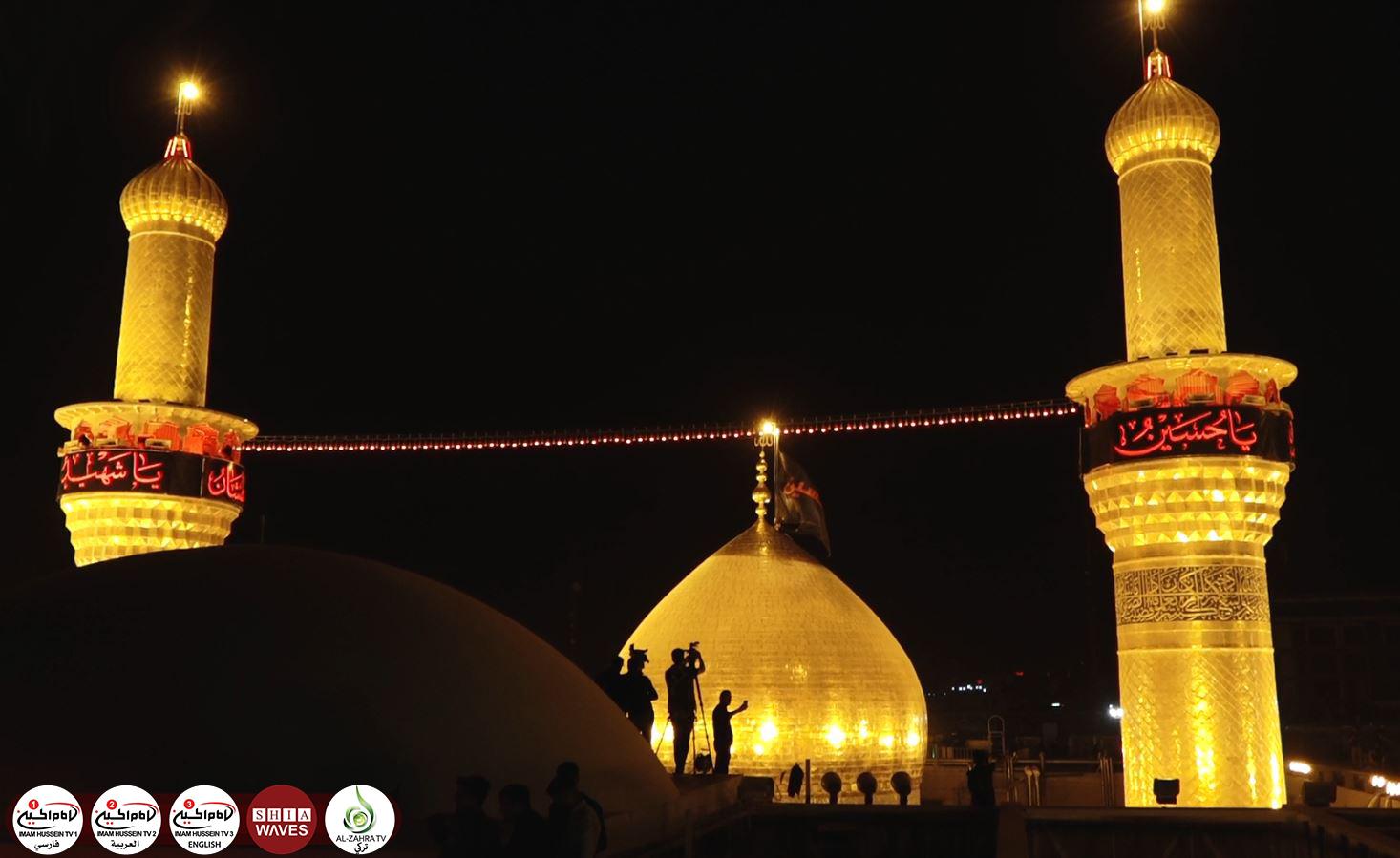 تصویر گزارش تصویری – مراسم تعویض پرچم گنبد مطهر امام حسین علیه السلام به مناسبت فرا رسیدن ماه محرم الحرام