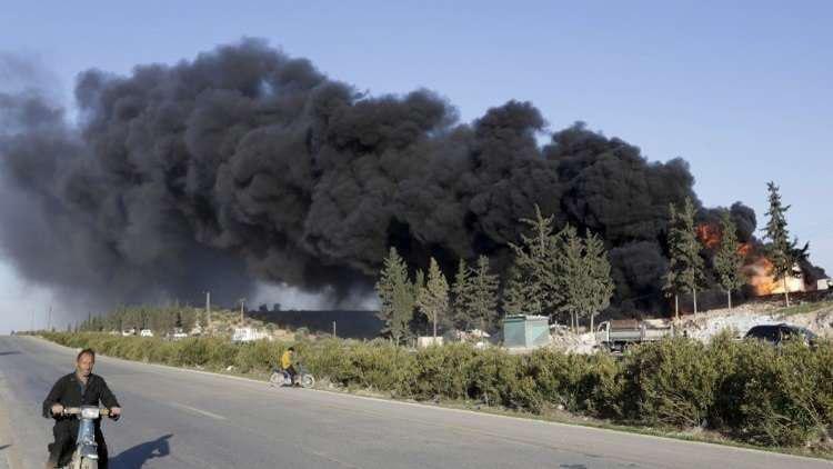 تصویر میدان های نفتی دیرالزور همچنان در اشغال داعش