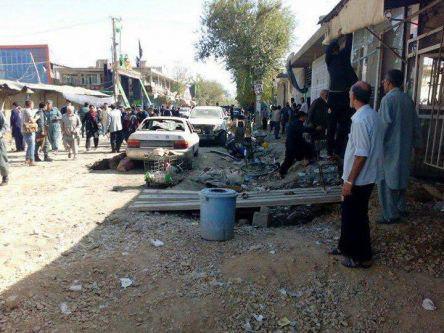 تصویر حمله انتحاری به حسینیه شیعیان در کابل