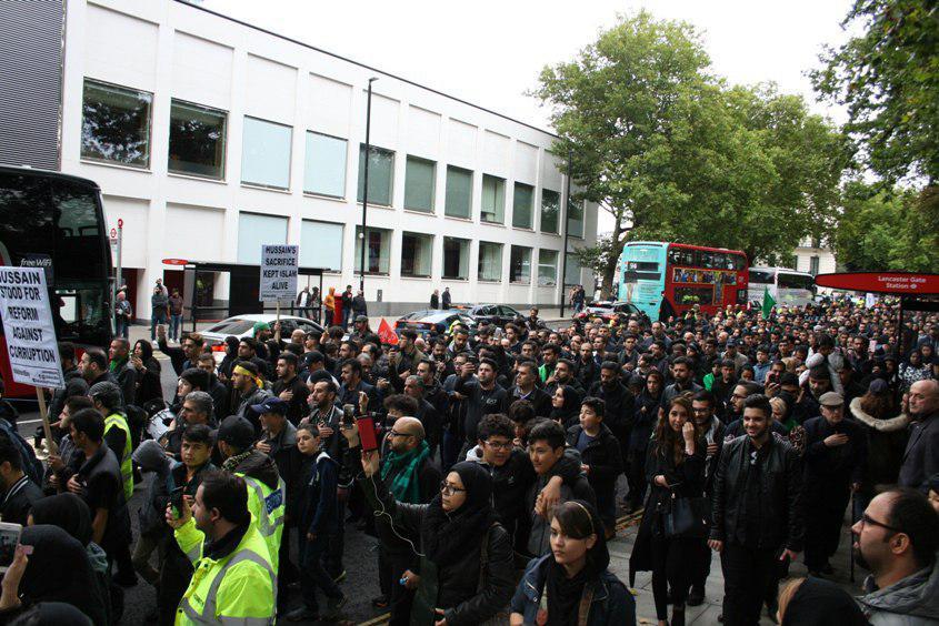 تصویر گزارش تصویری #عزادارى_شيعيان_جهان – دسته عزاداری شیعیان به مناسبت شهادت حضرت «ابا عبد الله الحسین علیه السلام» – لندن – انگلیس