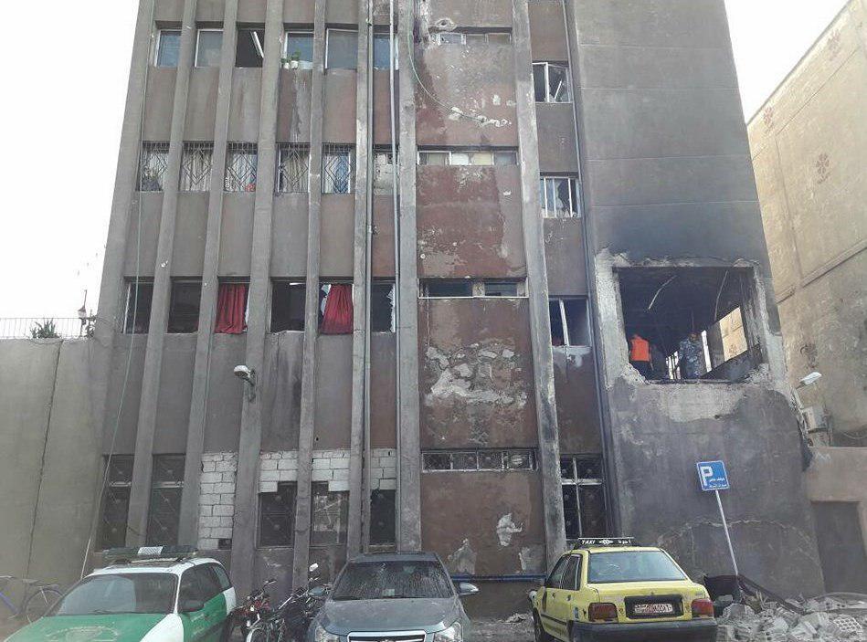 تصویر حمله انتحاری به مرکز پلیس در دمشق
