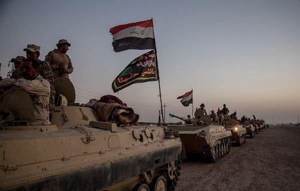 تصویر نیروهای عراقی در آستانه سیطره کامل بر آخرین پایگاه داعش در عراق