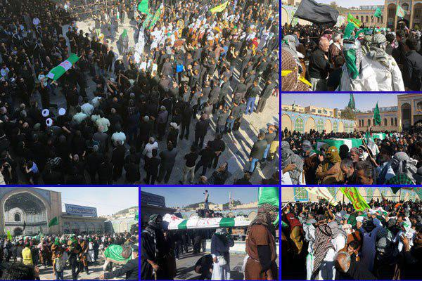 تصویر آیین دسته بنی اسد و کاروان اسرای کربلا در پیشوا