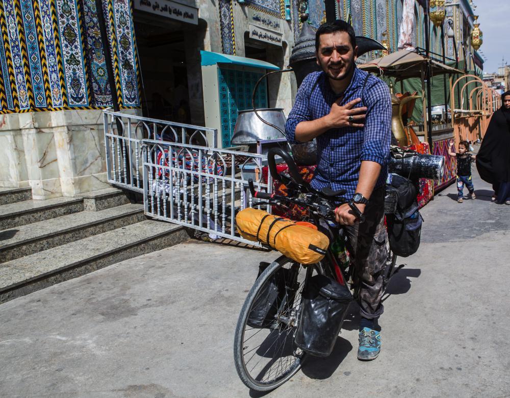 تصویر با دوچرخه از آذربایجان تا کربلا