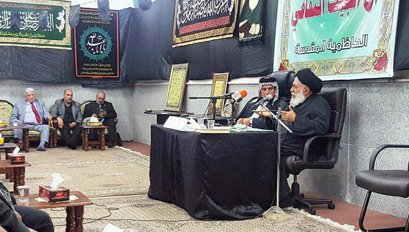 تصویر حضور مدیر مرکز ارادتمندان مرجعیت در سمینار انجمن آل البیت علیهم السلام در شهر مقدس کاظمین