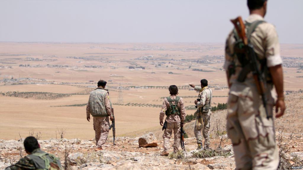 تصویر آزاد سازی یک روستای شیعه نشین در سوریه
