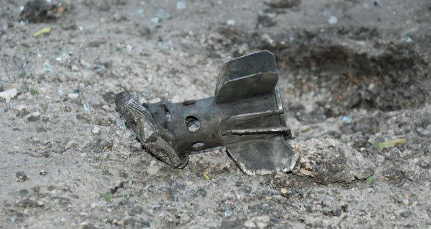 تصویر حمله خمپاره ای به شهر دمشق