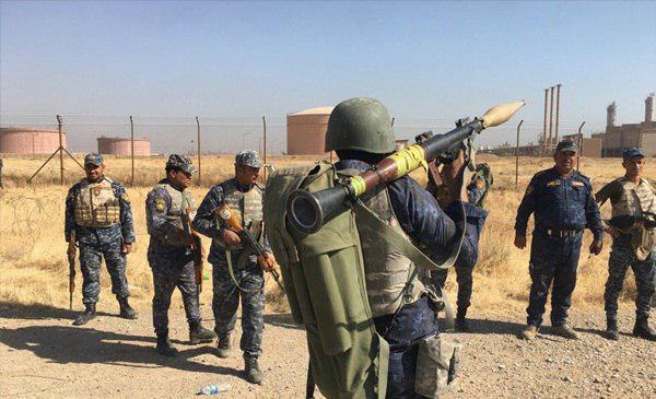 تصویر تسلط نیروهای عراقی بر فرودگاه و تاسیسات مهم نفتی کرکوک