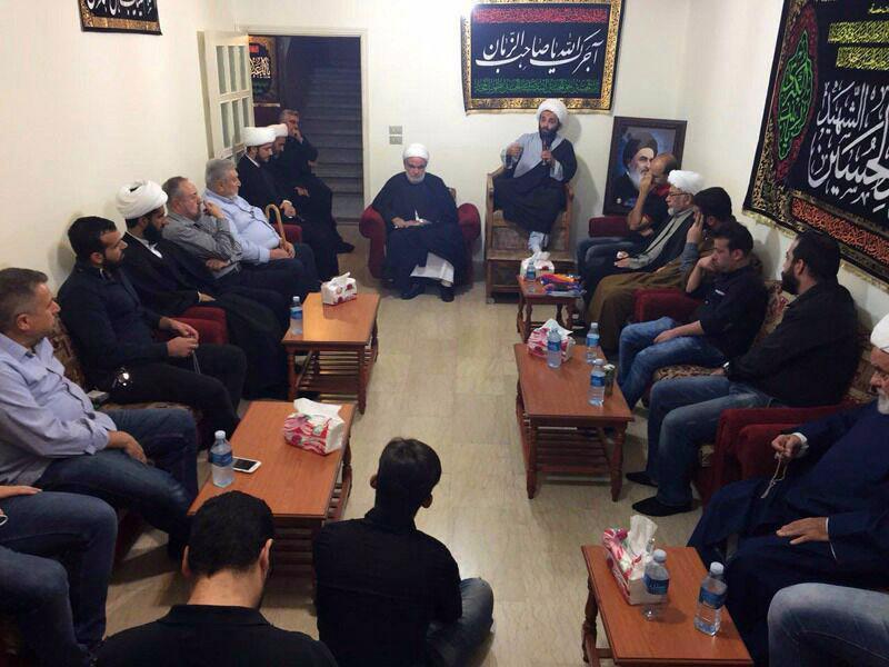 تصویر دفتر آیت الله العظمی شیرازی در بیروت لبنان پذیرای رئیس انجمن ألفا