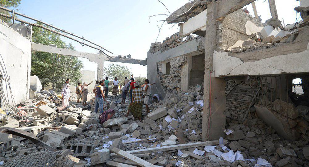 تصویر حمله هوایی به غیر نظامیان صعده
