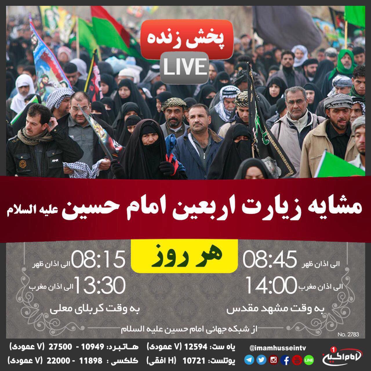 تصویر پخش زنده پیاده روی اربعین حسینی
