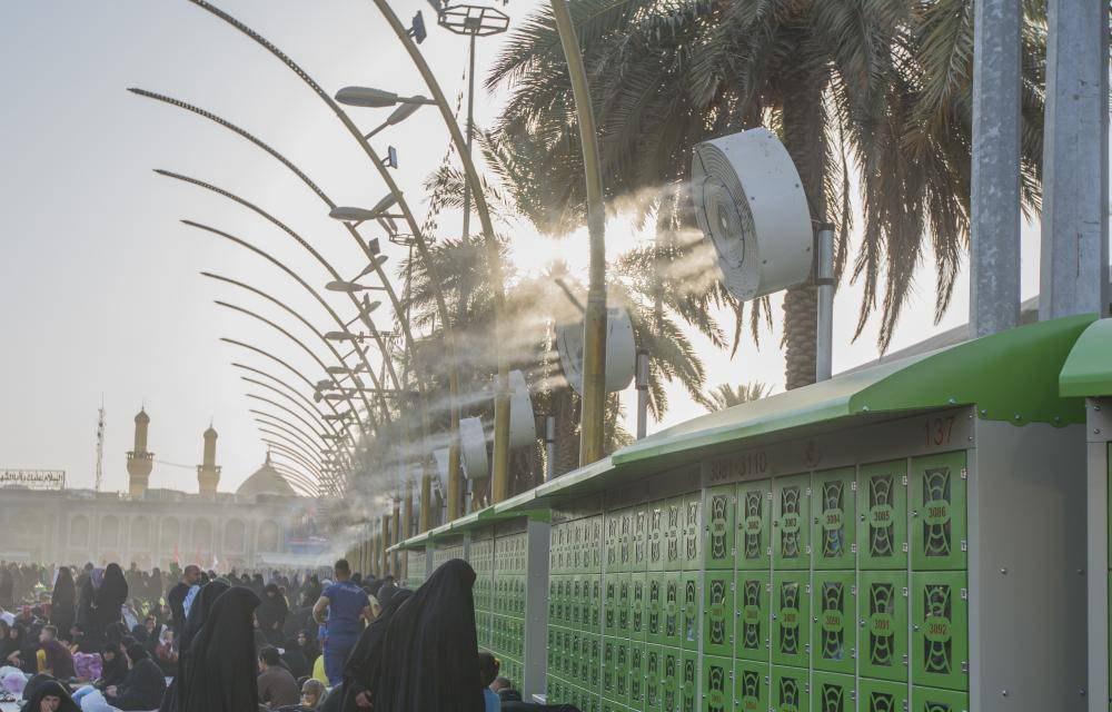 تصویر قفسه های قفل دار جدید در کنار حرم عباسی
