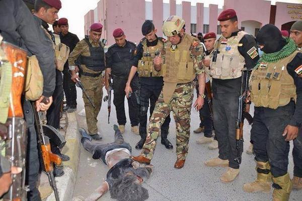 تصویر خنثی سازی یک حمله تروریستی در غرب سامرا