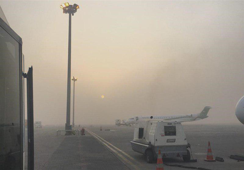 تصویر لغو پروازهای عراق به دلیل طوفان شن