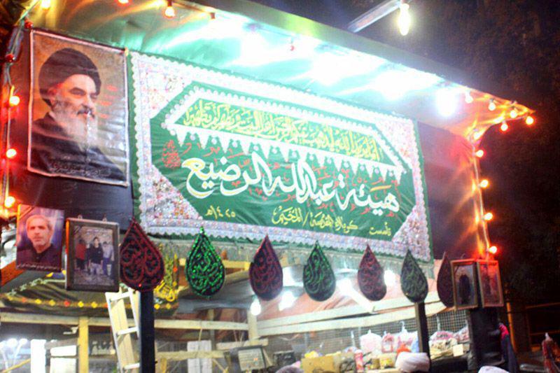 تصویر خدمت رسانی موکب عبدالله الرضیع علیه السلام در ایام اربعین حسینی