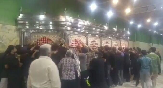 تصویر افتتاح سرداب جدید حسینی