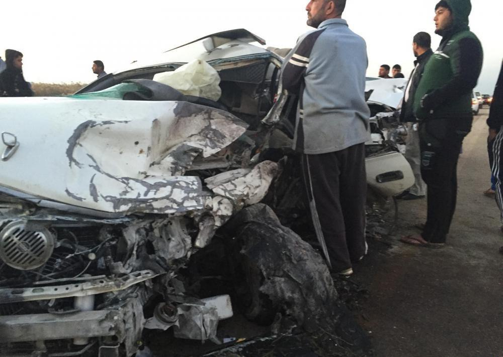 تصویر واژگونی خودروی زائران ایرانی در عراق