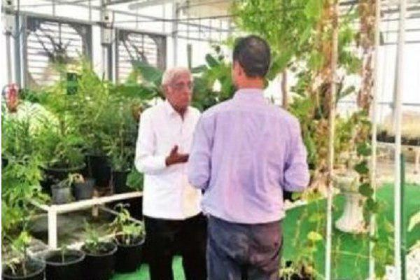 تصویر بررسی کاشت گیاهان قرآنی توسط  دانشمند هندی