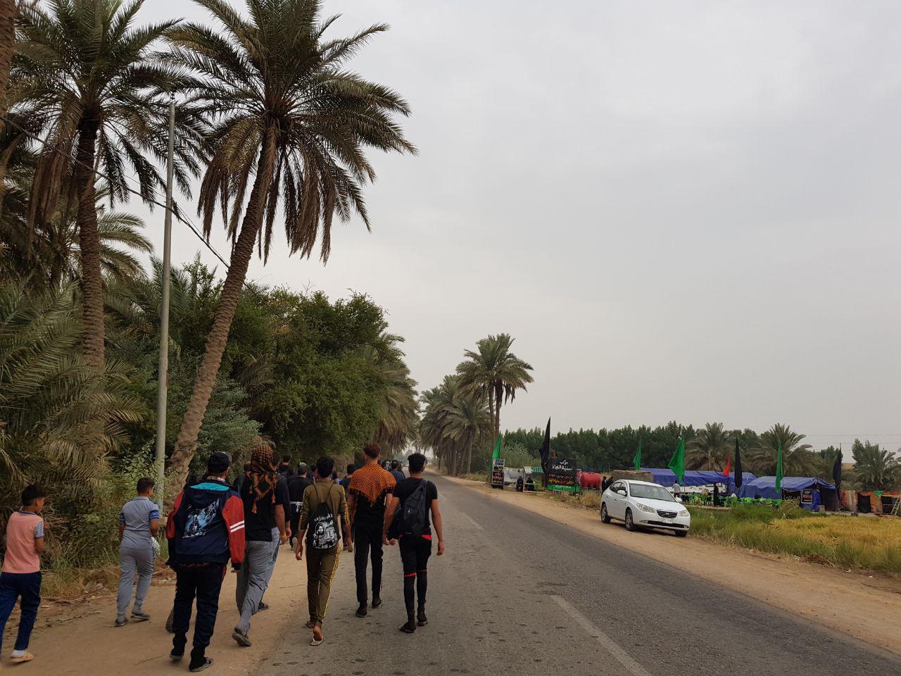 تصویر گزارش تصویری ـ مسیرهای فرعی پیاده روی زوار اربعین حسینی در اطراف حله