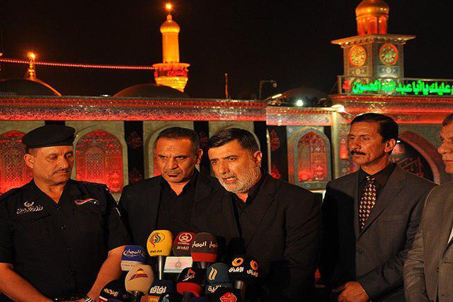 تصویر افتتاح مرکز رسانهای اربعین در حرم حسینی