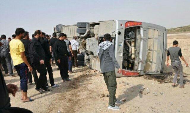 تصویر سانحه رانندگی در ذیقار عراق