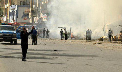 تصویر شهادت  ۶ نفر بر اثر انفجار در منطقه النهروان بغداد