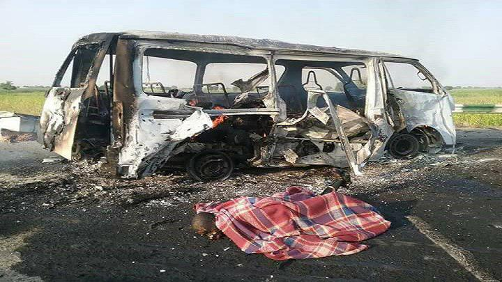تصویر حمله ائتلاف سعودی به یک اتوبوس در یمن