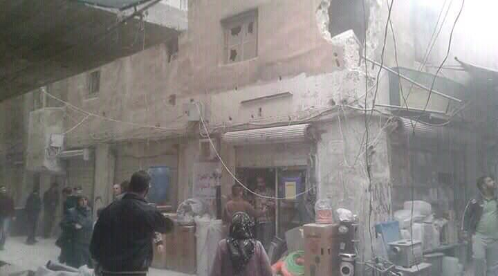 تصویر حمله خمپاره ای به منطقه سیده زینب سلام الله علیها