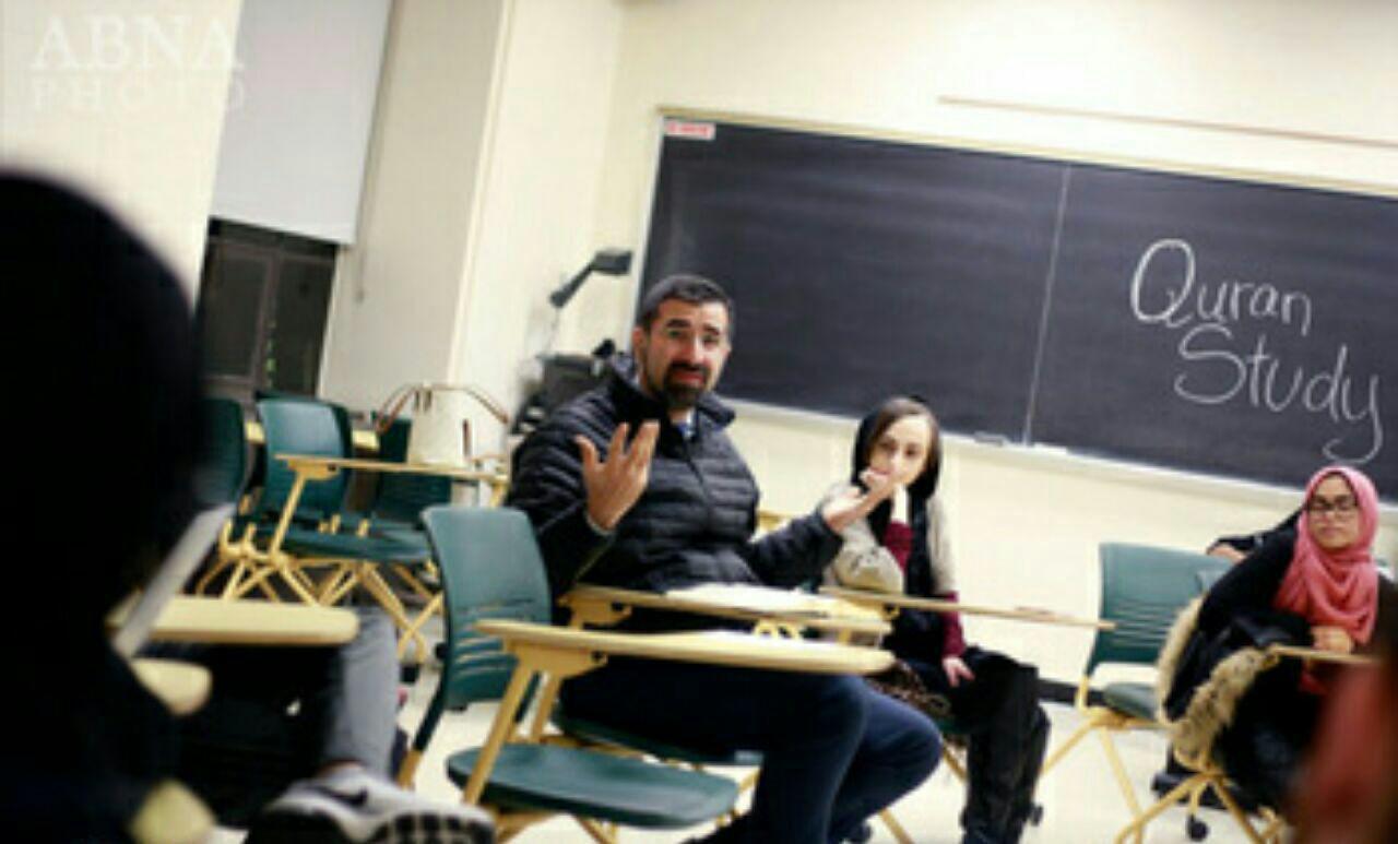 تصویر برگزاری نشستهای قرآنی با هدف اسلامهراسی زدایی در دانشگاه آمریکایی