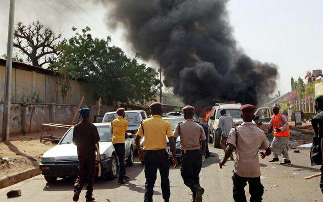تصویر انفجار انتحاری در مسجدی در نیجریه جان 50 تن را گرفت