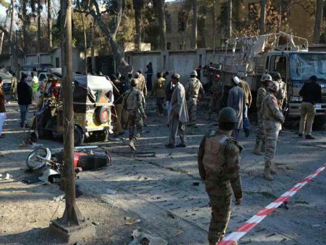 تصویر انفجار در کویه پاکستان