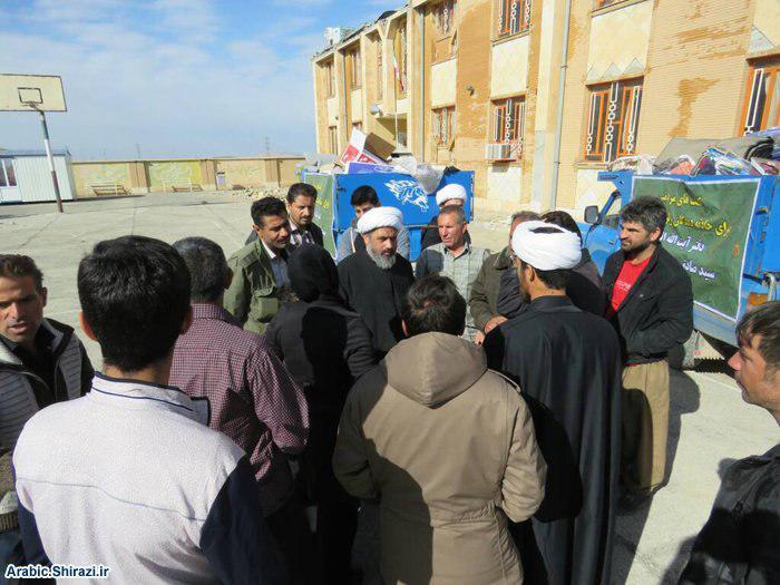 تصویر فعالیت های هیئت اعزامی دفتر آیت الله العظمی شیرازی به مناطق زلزله زده غرب ایران