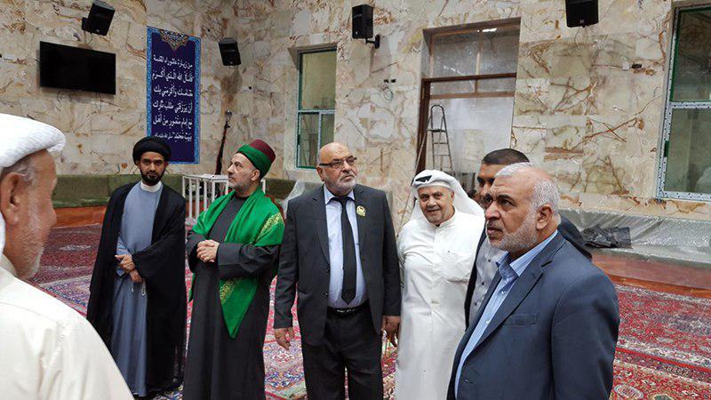 تصویر حضور هیئتی از آستان مقدس حسینی در حسینیه رسول اعظم صلی الله علیه وآله در کشور کویت